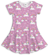 Urban Smalls Lavender Unicorns Dress - Toddler & Girls