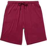 Derek Rose Basel Stretch-micro Modal Jersey Shorts - Claret