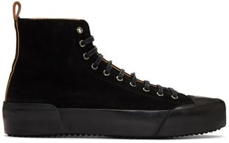 Jil Sander Black Suede Sneakers
