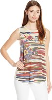 Desigual Womens Knitted T-Shirt Sleeveless 10, White, Large