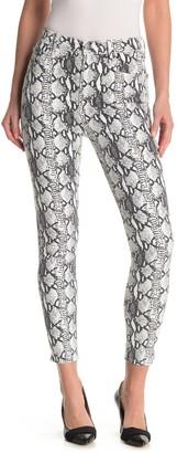 Frame Ali High Rise Skinny Python Printed Jeans