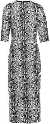 Alice + Olivia Snake-print Stretch-jersey Midi Dress