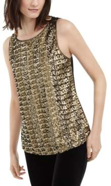 INC International Concepts I.n.c. Petite Sequined Tank Top, Created For Macy's