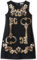 Dolce & Gabbana Key Print Shift Dress (Big Kids)