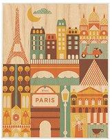Petit Collage Large Unframed Print on Wood - Princess