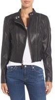 Rudsak Crop Moto Leather Jacket