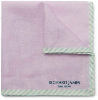 Richard James Wool And Silk-Blend Pocket Square