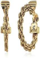 Anne Klein Women's Cable Hoop Clip On Earrings