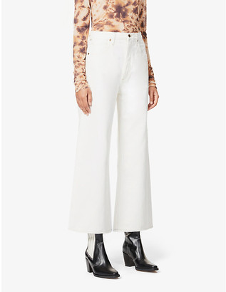 Citizens of Humanity Serena flared high-rise organic-cotton jeans