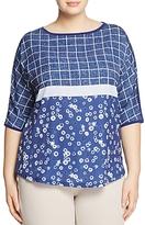 Marina Rinaldi Valente Printed Jersey Tee