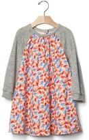 Gap Knit-sleeve print dress