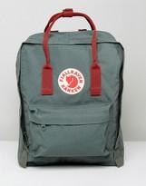 Fjallraven Kanken Backpack In Forest Green With Contrast Straps 16l