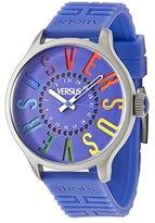 Versus By Versace Women's SGU030013 Versus City Round Stainless Steel Multi-Colored Indexes Date Watch