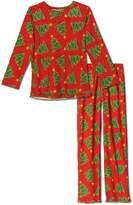Sara's Prints Christmas Tree, Girls 2 Piece Pajama Set, Kids