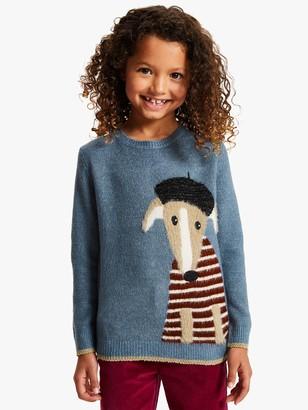 John Lewis & Partners Girls' Greyhound Jumper, Blue