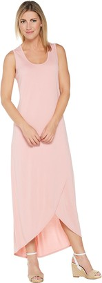 Lisa Rinna Collection Cross Hem Maxi Tank Dress
