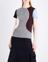 Victoria Beckham Panelled T-shirt wool-blend top