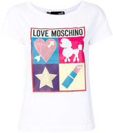 Love Moschino embellished logo T-shirt