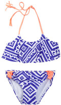 Gossip Girl Bonnie & Clyde Geo Print Ruffle Two-Piece Swimsuit (Big Girls)