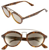 Ray-Ban Women's Highstreet 50Mm Brow Bar Sunglasses - Brown/ Havana