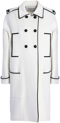 Valentino Double-breasted Wool-blend Felt Coat