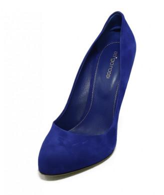 Sergio Rossi Blue Suede Heels