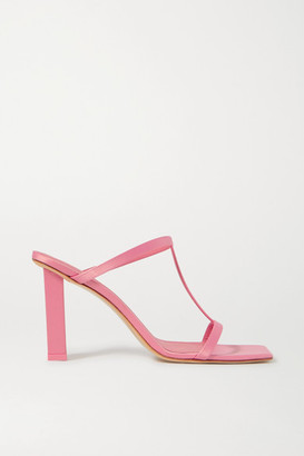 Cult Gaia Piper Grosgrain Mules - Pink
