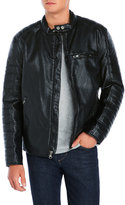 Andrew Marc Watkins Faux Leather Motorcycle Jacket