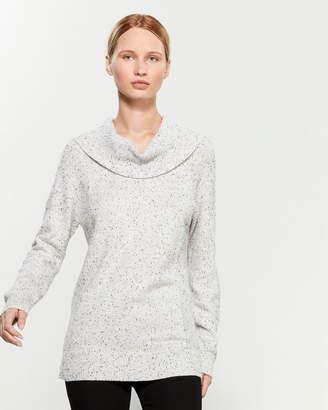 Calvin Klein Cowl Neck Side Panel Long Sleeve Sweater