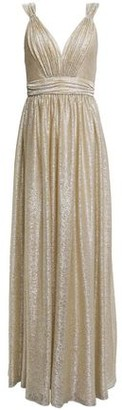 Catherine Deane Caterina Pleated Metallic Coated Knitted Gown