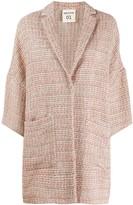Semi-Couture Semicouture tweed single-breasted coat