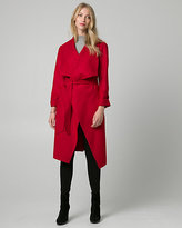 Le Château Cashmere-Like Open Collar Wrap Coat