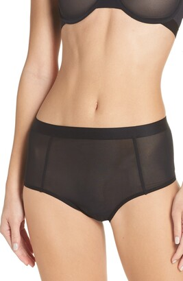 Negative Underwear Sieve High Waist Briefs