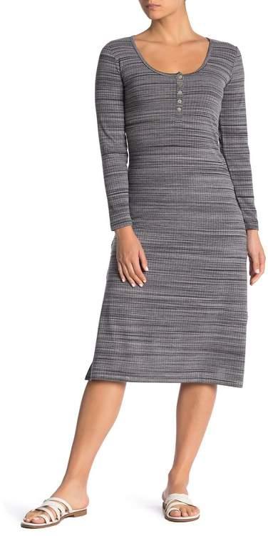O'Neill Ribbed Stripe Midi Dress