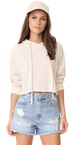 Monrow Oversized Cropped Hoodie
