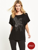 Replay Metal Wire Detail T-shirt - Black