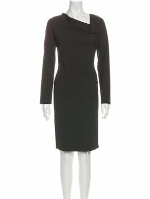 Roland Mouret Asymmetrical Knee-Length Dress Brown