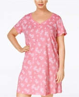 Charter Club Plus Size Henley Sleepshirt, Only at Macy's