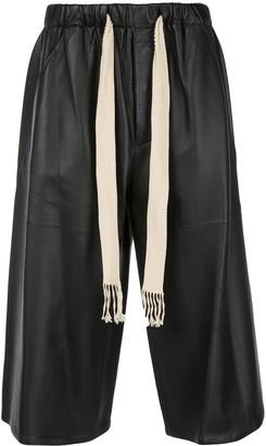 Loewe Drawstring Waist Leather Culottes