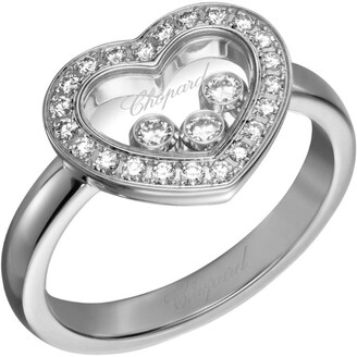 Chopard White Gold Happy Diamonds Icons Heart Ring