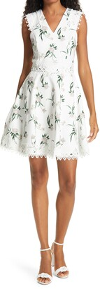 Ted Baker Nolla Floral & Lace Skater Dress