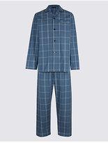 M&S Collection Pure Cotton Checked Pyjama Set