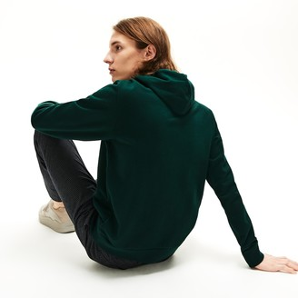 Lacoste Mens Logo and Croc Crew Neck Fleece Hoodie