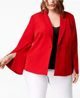 INC International Concepts I.n.c. Plus Size Split-Sleeve Blazer, Created for Macy's