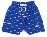 Oscar de la Renta Little Boy's & Boy's Shark Print Swim Trunks