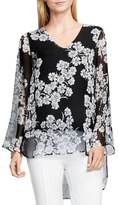 Vince Camuto Women's Petal Print Bell Sleeve Blouse
