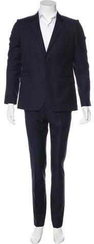 Givenchy Plaid Wool Suit