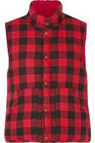 Maje Gorky Reversible Quilted Checked Flannel Vest