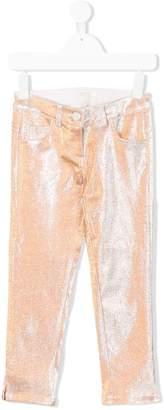 Miss Grant Kids metallic slim-fit trousers