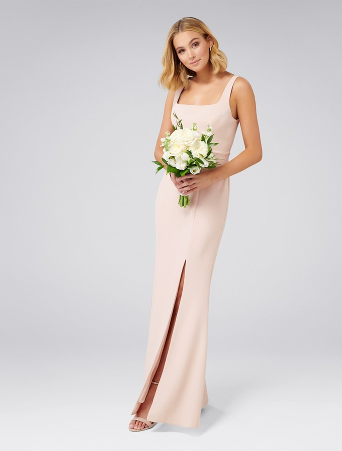 Forever New Carmel Square Neck Gown - Cosmetic Nude - 4